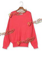 Осенние цвета конфеты свободная нерегулярные длинный рукав свитера шерстяные