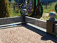 Гранитные ограды на кладбище (оградка, ограждения из гранита на могилу)