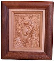 Икона деревянная резная Казанской Божьей Матери, фото 1