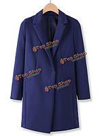 Мода сплошной цвет одной кнопки с длинным рукавом Blazer костюм