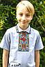 Вишиванка для хлопчика Подільська кольорова на сірому