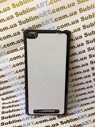 Чехол для 2D сублимации пластиковый на Xiaomi Redmi 3 черный, фото 2