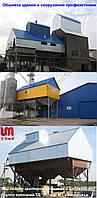 Обшивка профнастилом ангаров, складов, технических зданий и сооружений