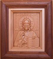 Икона деревянная резная Иисуса Христа (Господь Вседержитель), фото 1