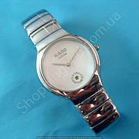 Часы Rado Jubile A239 114261 серебристые на белом циферблате женские круглые темная сталь диаметр 40 мм