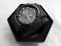Часы  G-Shock - GA-110, стальной бокс, черные с серебром