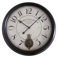 Часы настенные круглые металл с маятником 43см. AN-04