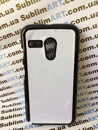 Чехол для 2D сублимации пластиковый на Motorola Moto G черный, фото 2