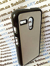 Чехол для 2D сублимации пластиковый на Motorola Moto G черный, фото 3