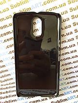 Чехол для 2D сублимации пластиковый на Motorola Moto G4 черный, фото 3