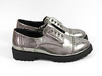 Серебряные туфли осень 2016