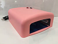 Ультрафиолетовая лампа для ногтей 36 вт розовая, фото 1