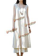 Платье тонкие женское без рукавов шнурок белье из хлопок линии платье