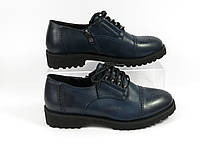 Синие молодежные туфли