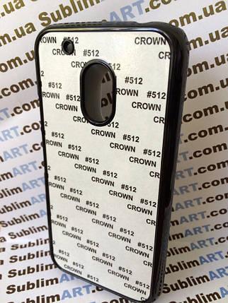 Чехол для 2D сублимации пластиковый на Motorola Moto G4 Play черный, фото 2