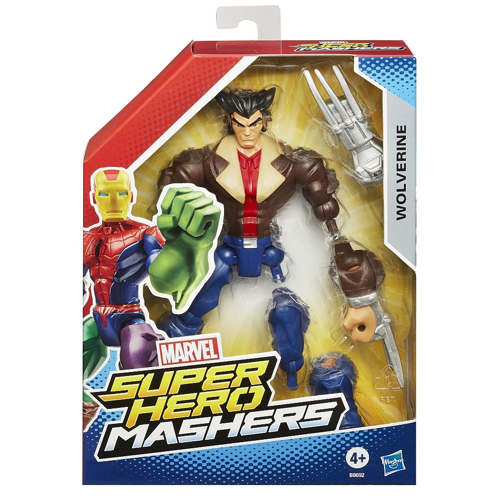 Разборные фигурки супергероев, Росомаха - Wolverine, Super Hero Mashers, Marvel, Hasbro