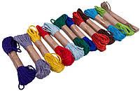 Веревки джутовые цветные (10м/12шт) для декора