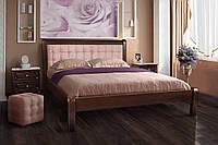 """Кровать """"Соната"""" 160х200 см. Клен (Орех темный, ткань розовая)"""