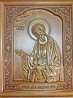 Икона деревянная резная Святой апостол Андрей Первозванный, фото 1