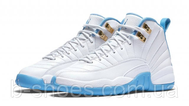 Женские Кроссовки Nike Air Jordan Retro 12 GS (University Blue)