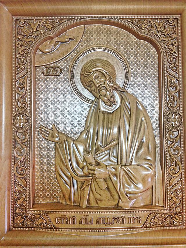 иконарезная деревянная святого апостола андрея первозванного