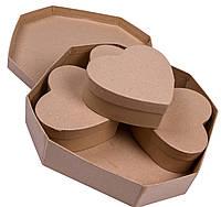 Набор картонных коробочек (5шт) для декора и декупажа
