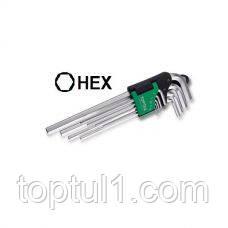 Набор шестигранников длинных TOPTUL GAAL0911 9 ед. 1,5-10 мм