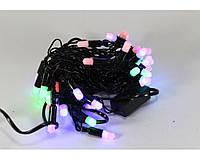 Гирлянда многоцветная 40P B1, новогодняя гирлянда 40 светодиодов, светодиодная гирлянда