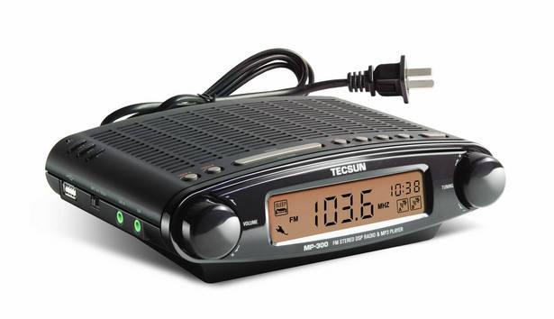 Часы FM радиоприемник с MP3 плеером Tecsun MP-300