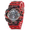 Часы мужские  G-Shock - GA-100,  хаки, красные, khaki