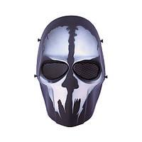 """Страйкбольная маска Гоуст/GHOST """"Call of Duty"""" - черная, фото 1"""
