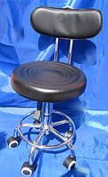 Стул для мастера  маникюра и педикюра со спинкой черный