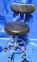 Стул для мастера  маникюра и педикюра со спинкой черный, фото 1
