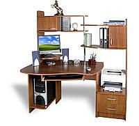 Эргономичный компьютерный стол  с тумбами СПТ-1, яблоня-локарно