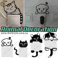 "Наклейки на розетки - ""Animal Decoration"" - 1 шт. , фото 1"