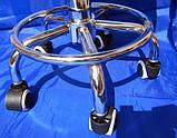 Стілець для майстра манікюру , педикюру і перукаря без спинки коричневий шахматки, фото 6