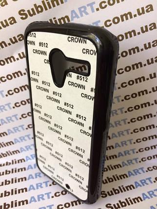 Чехол для 2D сублимации пластиковый на Motorola Moto X черный, фото 2