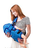 Рюкзак кенгуру переноска сидя, для детей с трехмесячного возраста,  Голубой