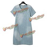 Женские летние ногтей шарик джинсовой одежды свободно