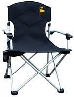 Кресло раскладное с уплотненной спинкой и жесткими подлокотниками