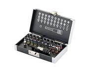 """Набор бит, 1/4"""", магнитный адаптер, сталь S2 пластиковый кейс, 32 предм. GROSS (11363)"""