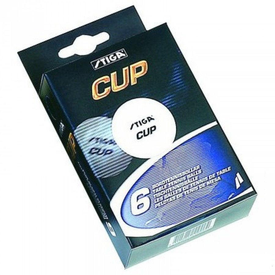 Кульки тенісні   Stiga в упаковці 6  шт.