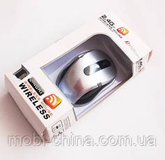Мышь  оптическая беспроводная G108, silver, фото 2