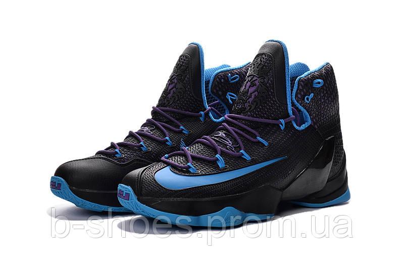 Мужские баскетбольные кроссовки Nike Lebron 13 Elite (Black/Purple/Blue)