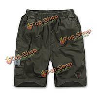 Летние мужские мульти-карман эластичный пояс свободные случайные спортивные шорты до колен