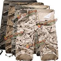 Мужские военные летом хлопка свободные мульти-карманные случайные шорты Камо груза