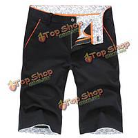 Лето мужские случайные цветочные брюки хлопка колен шорты уменьшают подходящие 8 цветов