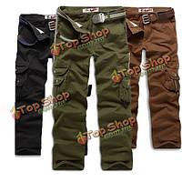 Мужские штаны повседневные брюки Карго с карманами