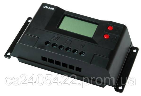 Контроллер заряда JUTA CM30D 30A 12/24V+USB