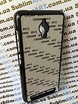 Чехол для 2D сублимации пластиковый на ASUS Zenfone GO черный, фото 2